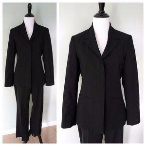 NEXT Black Pinstripe 2 Pc. Wool Career Pant Suit